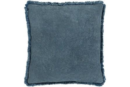 Accent Pillow-Brush Fringe Slate 20X20 - Main