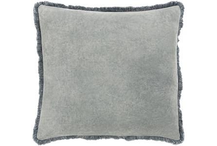 Accent Pillow-Brush Fringe Pewter 20X20 - Main