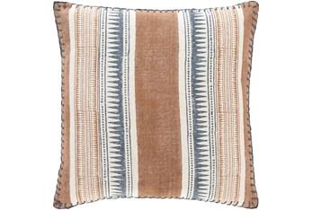 Accent Pillow-Stripe Rust/Denim 20X20
