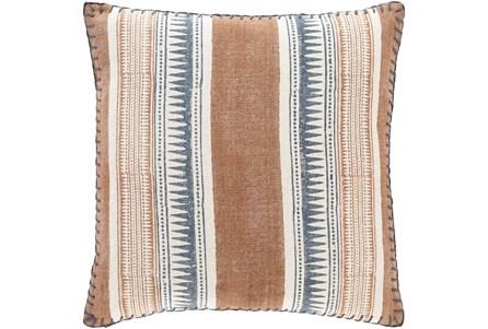 Accent Pillow-Stripe Rust/Denim 20X20 - Main