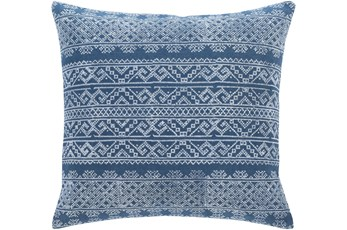 Accent Pillow-Block Print Denim 22X22