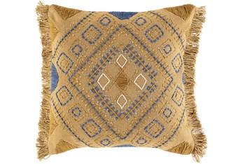 Accent Pillow-Boho Mustard/Denim 18X18