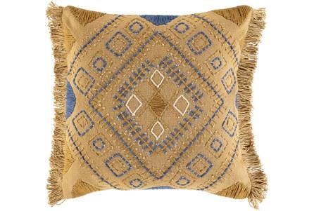 Accent Pillow-Boho Mustard/Denim 18X18 - Main