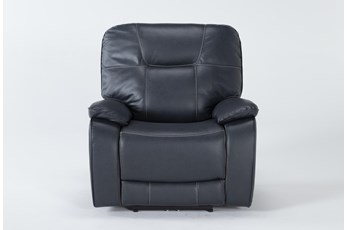 Tyson II Navy Power Recliner With Power Headrest & Usb