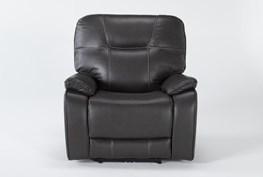 Tyson II Charcoal Power Recliner With Power Headrest & Usb