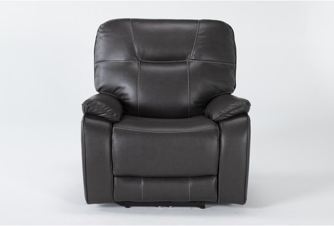 Tyson II Charcoal Power Recliner With Power Headrest & Usb - 360