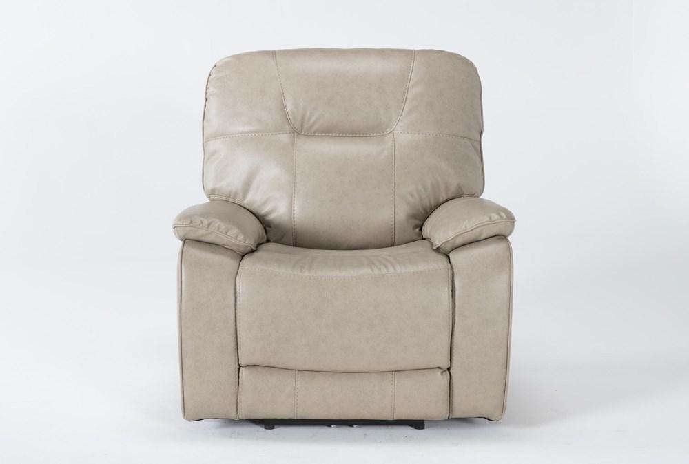 Tyson II Parchment Power Recliner With Power Headrest & Usb