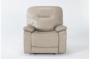 Tyson II Parchment Power Recliner With Power Headrest & Usb
