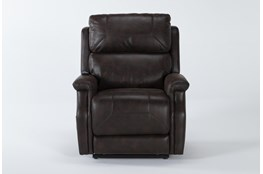 Thorpe Walnut Power Lift Recliner With Power Headrest