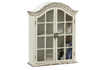 Traditional 2-Door Wood And Metalarched Wall Cabinet
