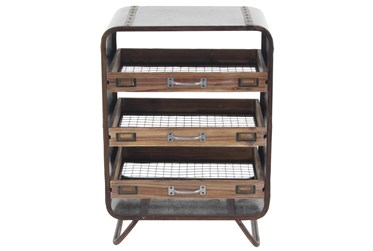 Industrial Metal Chest With 3 Tray Drawers