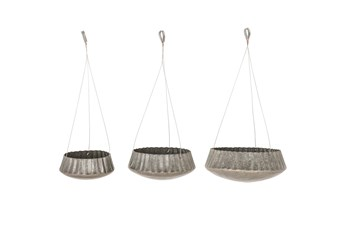 Industrial Hanging Planters Set Of 3