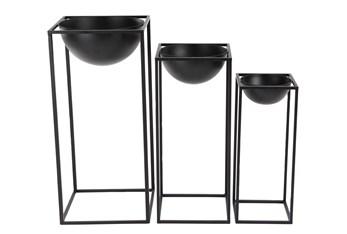 Rectangular Framed Bowl Plant Stands Set Of 3