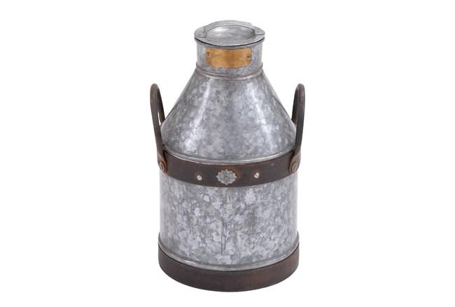 17 Inch Galvanized Iron Milk Can - 360