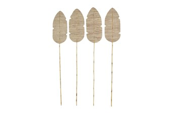 Tall Palm Leaf & Bamboo Decorative Vase Fillers Set Of 4
