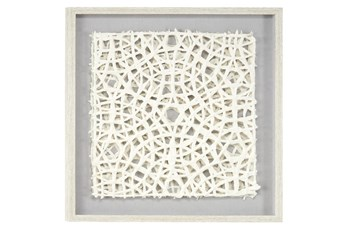 White Handcut Paper Abstract Shadow Box