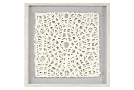 White Handcut Paper Abstract Shadow Box - Main
