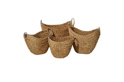 Brown Wicker Backets Sets Of 4