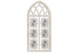 41 Inch Cathedral Wood 6 Photo Picture Frame