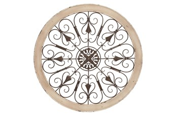 36 X 36 Vintage Style Round Wall Decor