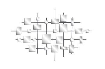 Geometric Silver Mirrored Wall Decor