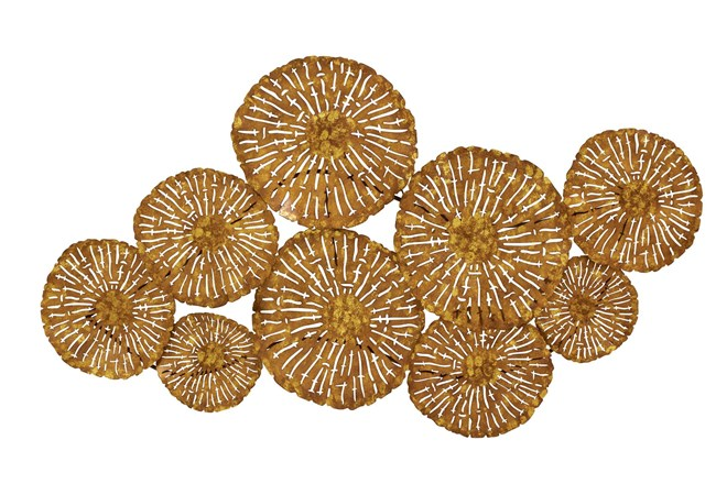 22 X 42 Brown Flower Montage Wall Decor  - 360