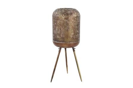 32 Inch Gold Patterend Round Floor Lantern - Main