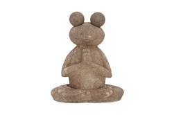 17 Inch Meditating Frog Sculpture