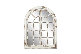 48 X 37 Inch Whitewashed Arch Panel Mirror