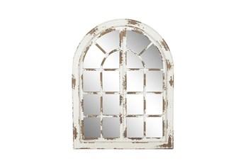 48 X 37 Inch Whitewashed Arch Panel Mirror