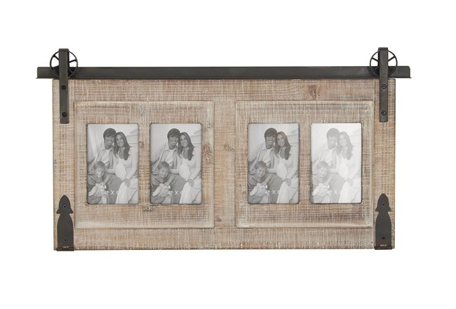 Traditional Wood And Iron Wall Photo Frame  - 360