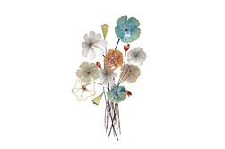 Multicolor Flower Bouquet Wall Decor