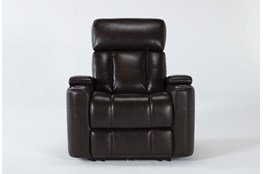 Eastwood Espresso Home Theater Power Wallaway Recliner With Power Headrest