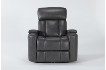 Eastwood Graphite Home Theater Power Wallaway Recliner With Power Headrest