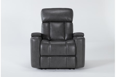 Eastwood Graphite Home Theater Power Wallaway Recliner With Power Headrest - Main