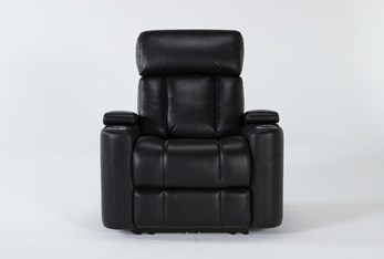 Eastwood Midnight Home Theater Power Wallaway Recliner With Power Headrest