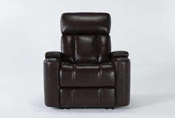 Eastwood Espresso Home Theater Power Wallaway Recliner With Power Headrest & Bluetooth