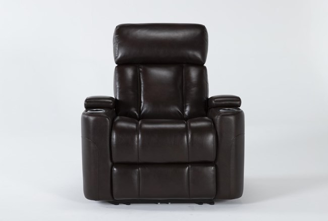 Eastwood Espresso Home Theater Power Wallaway Recliner With Power Headrest & Bluetooth - 360