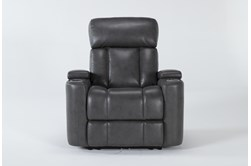 Eastwood Graphite Home Theater Power Wallaway Recliner With Power Headrest & Bluetooth