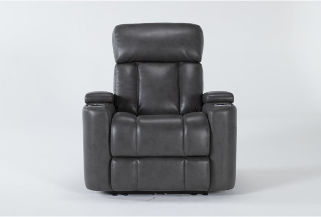 Eastwood Graphite Home Theater Power Wallaway Recliner With Power Headrest & Bluetooth - 360