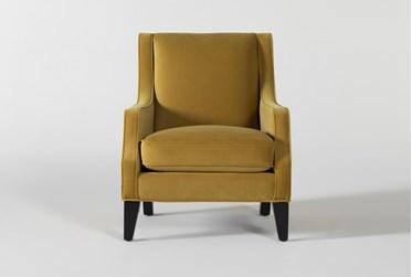Faust II Velvet Accent Chair