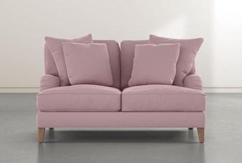 """Abigail IV Pink Velvet 65"""" Loveseat"""
