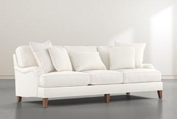 """Abigail IV White Estate 96"""" Sofa"""