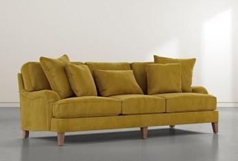 """Abigail IV Velvet Yellow Estate 96"""" Sofa"""