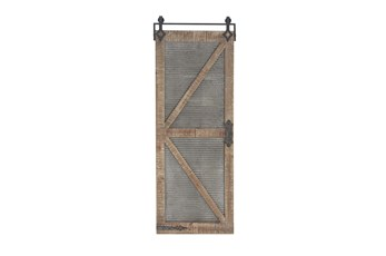 Mixed Material Wood And Metal Door Panel