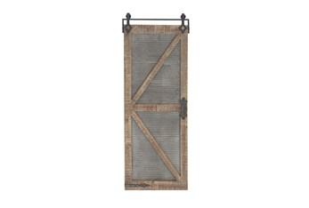 Mixed Material Wood And Metal Door Panel