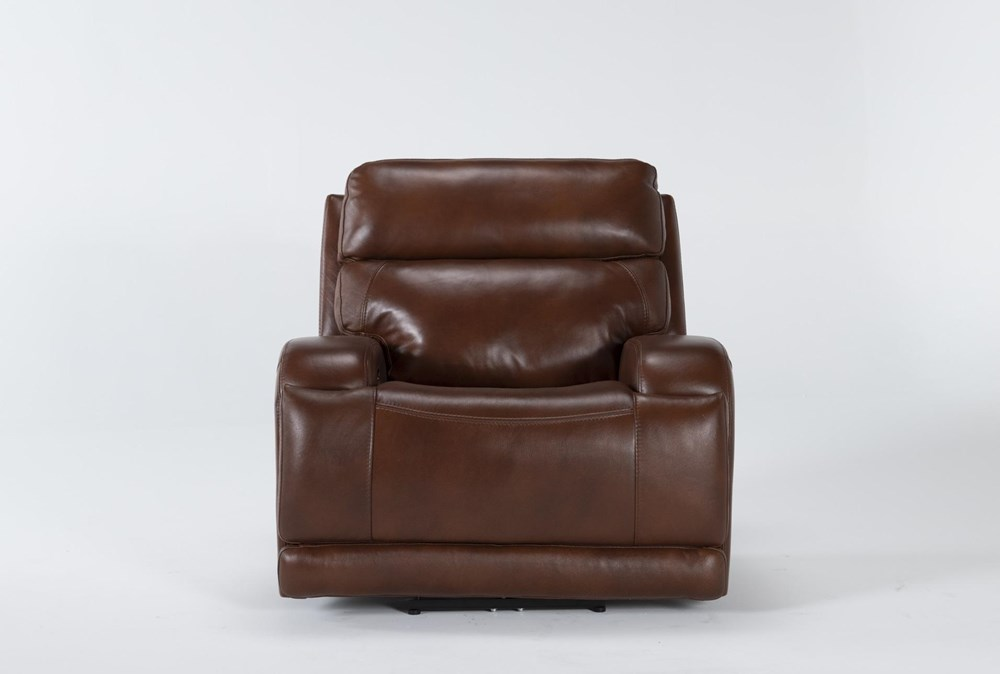 Victor Chestnut Zero Gravity Power Recliner With Power Headrest & Lumbar