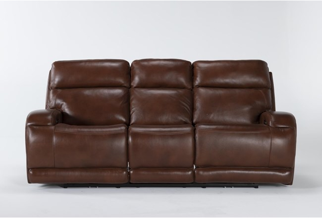 "Victor Chestnut Zero Gravity 88"" Power Reclining Sofa With Power Headrest & Lumbar - 360"