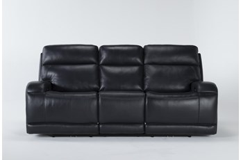 "Victor Navy Zero Gravity 88"" Power Reclining Sofa With Power Headrest & Lumbar"