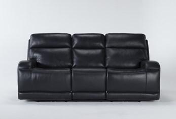 "Victor Navy Zero Gravity 88"" Power Reclining Sofa With Power Headrest & Lumbar"